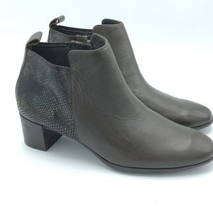 Shoes - Munro dark brown faux snake skin Alix Bootie boots